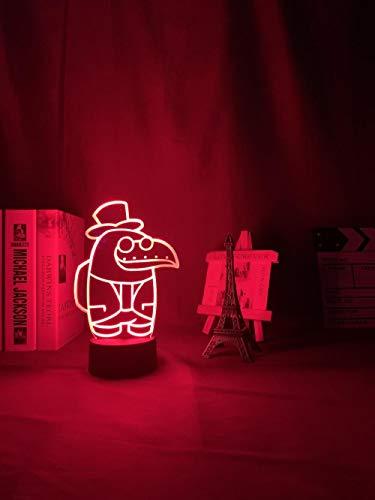 Regalos para mujeres LED 3D Luz nocturna juego luz bajo nosotros para dormitorio decoración regalo bajo nosotros lámpara proyector de médico guiado por Pest DUYAO00