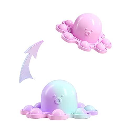 Genericcccc Reversible Octopus Pop Push Bubble Fidget Toy, Flip