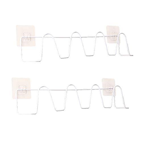 Schuhschrank Organizer Single Layer Metall Slipper Organizer Badezimmer Space Saver Rack Halter hängen 2 Paar Schuhe einmal ideal für Badezimmer, 2 Pack Schuhablage ( Farbe : Red , Size : 44*9cm )