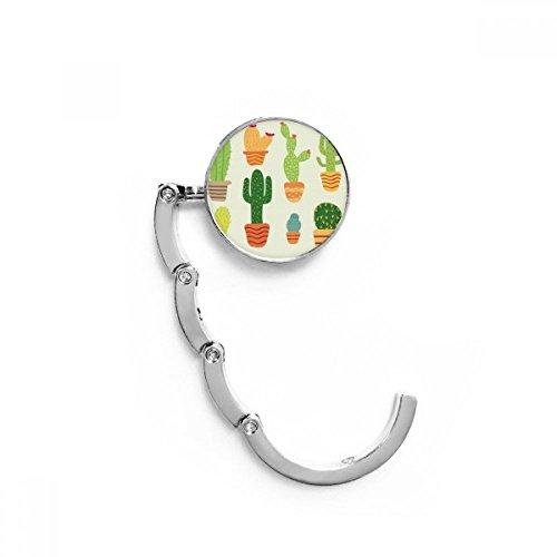 DIYthinker Vrouwen Potted Plant Cactus Vetplanten Patroon Tafel Haak Vouwtas Bureau Hanger Opvouwbare Houder 4.4 x 4.4cm (Breedte x Hoogte) Wanneer Gevouwen Multi kleuren