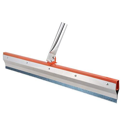 DealMux escobilla de goma dentada de acero inoxidable epoxi revestimiento de pintura de cemento autonivelante suelo engranaje rastrillo herramientas de construcción parte