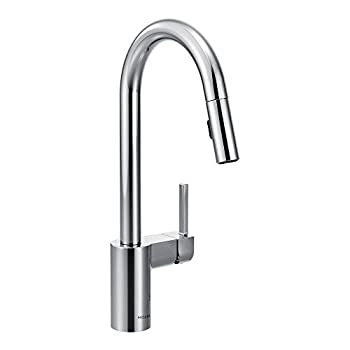 Moen 7565 Spot Resist Stainless Single Handle Pulldown Spray Kitchen Faucet with Chrome