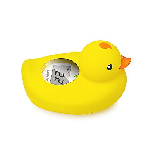 BABY BBZ Digital Baby Thermometer, schwimmende Wasser-Thermometer zum Baden, Badewanne Entchen Spielzeug für Säuglinge und Kleinkinder (gelb)