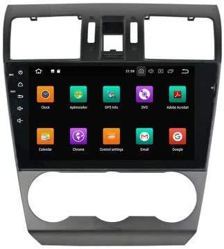 Coche Estéreo GPS Navegación Compatible Con Subaru Forester Auto Audio Player Android 8.0 Unidad De Cabeza SAT NAV MP5 Player FM Radio Receptor SWC 9 Pulgadas Pantalla Táctil,8 core 4G+WiFi 4+64GB