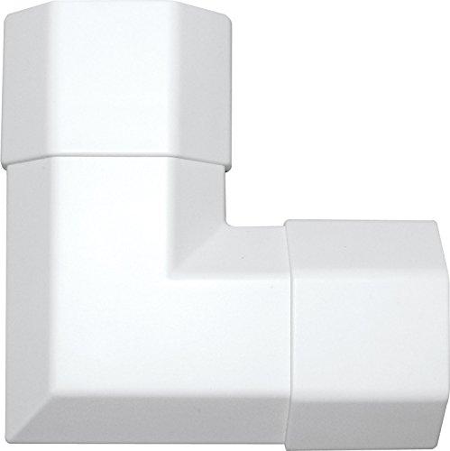 SCHWAIGER -9635- Kabelkanal-Ecke aus Kunststoff/Weiß / 90° Winkel/flach/flexibel/für HDMI-Kabel/Schreibtisch/Smart-TV/PC/Lautsprecher/Büros/Wohnzimmer/Telefon/Lan-Kabel