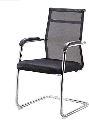 Elegante silla oficina, silla giratoria Silla de computadora de malla simple | silla de escritorio de oficina transpirable y cómoda | Silla de personal con reposabrazos fijos | Silla de conferencia ad