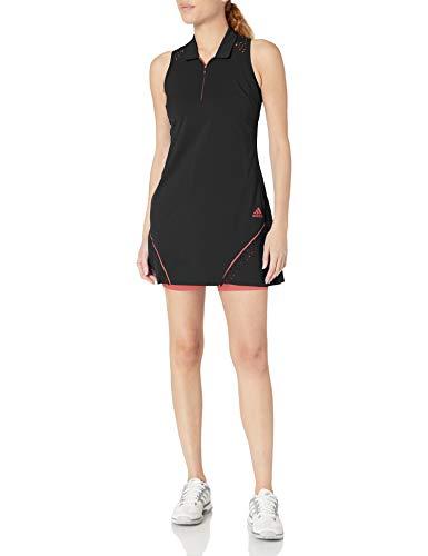 adidas Golf Pop-Kleid, perforiert, Schwarz, Größe XL
