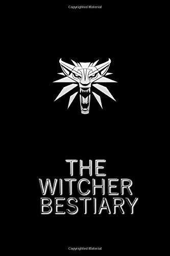 """The Witcher Bestiary: Black   Fan Notebook, Sketchbook, Diary, Journal, For Kids, For A Gift, To School   110 College Ruled Blank Pages   6"""" x 9"""" (Witcher College ruled)"""