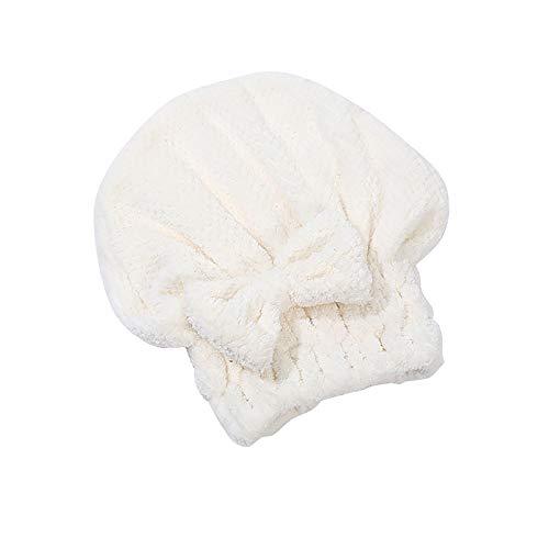 1 Pieza Coral Fleece Gorro de Ducha Toalla de Pelo Seca Absorbente Suave No Desvertimiento Seca Sombrero de Arco