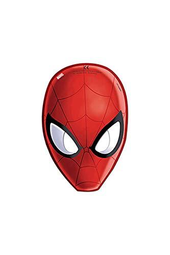 Ciao Procos 85179.–Masken Papier Ultimate Spider Man, 6Stück, rot
