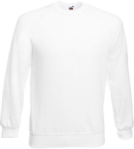Fruit of the Loom Herren, Sweatshirt, Raglan Sweatshirt L,White