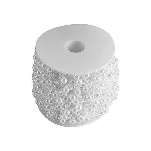 DUNRU Cortinas De Borla 60m / Roll Dormitorio Creativo DIY Crystal Bead Cortina Festival de Boda Fiesta de la Boda Fondo de la Boda Cortina Decorativa Cortinas De Perlas (Color : White)