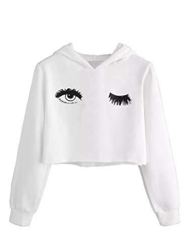 Girls Unicorn Crop Tops Kids Cute Hoodies Long Sleeves Pullover Sweatshirts 3