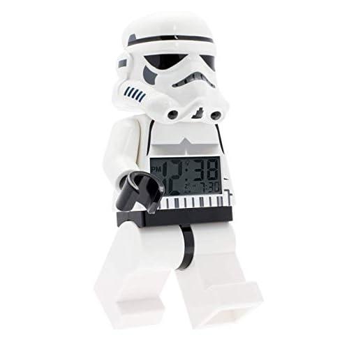 LEGO Star Wars 9002137 Sveglia retroilluminata per bambini minifigure Stormtrooper