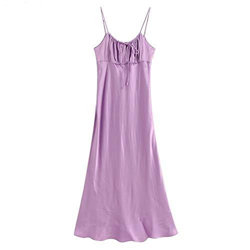 FEIFUSHIDIAN Skin Fashion - Vestido de verano para mujer, color morado, con correa para mujer
