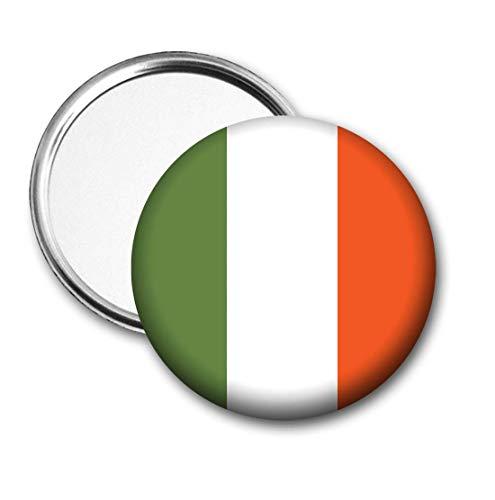 Ierland Vlag Pocket Spiegel voor Handtas - Handtas - Gift - Verjaardag - Kerstmis - Stocking Filler - Secret Santa