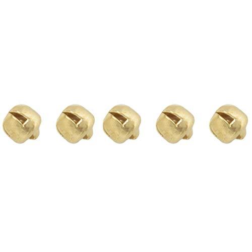 Katigan 100pcs de Campanas de Metal de Bricolaje Artesania Practica 6mm