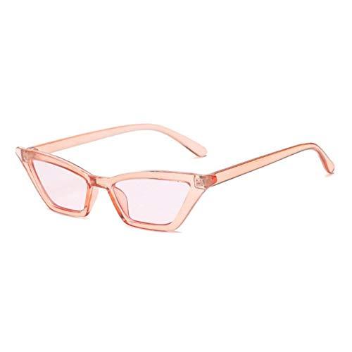 ZZOW Gafas De Sol Vintage De Moda para Mujer, Ojos De Gato, Rosa, Rojo, Lentes Transparentes, Gafas De Sol De Tendencia para Mujer, Sombras Uv400