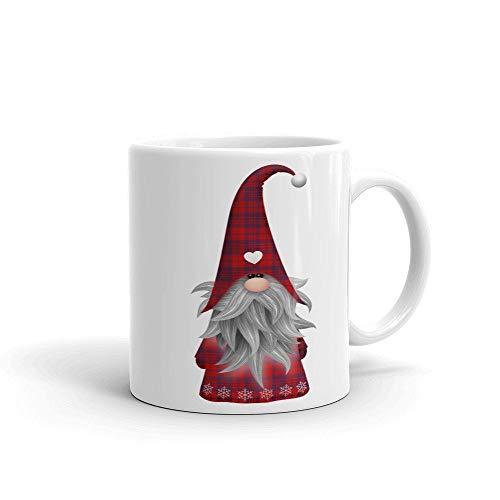 Christmas Gnome | Red Plaid | Coffee Mug | Teacup | Christmas Gift | Teacher Gift | White Cup