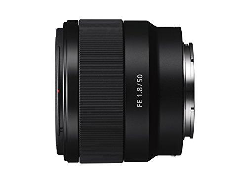 Sony SEL-50F18F Standard Objektiv (Festbrennweite, 50 mm, F1.8, Vollformat, geeignet für A7, A6000, A5100 und Nex Serien, E-Mount) schwarz & Walimex Pro UV-Filter Slim MC 49 mm (inkl. Schutzhülle)