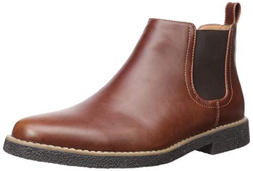Deer Stags mens Rockland Chelsea Boot, Redwood/Dark Brown, 10.5 Wide US