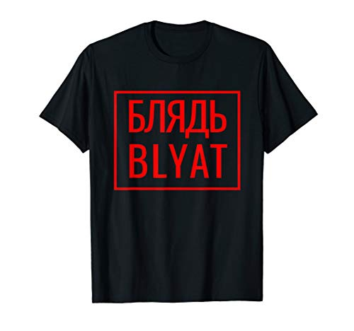 BLYAT russisches Meme T-Shirt für Herren & Frauen