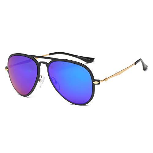 AKCESSORYZ Gafas de sol estilo aviador retro vintage, redondas, con espejo, protección UV, unisex
