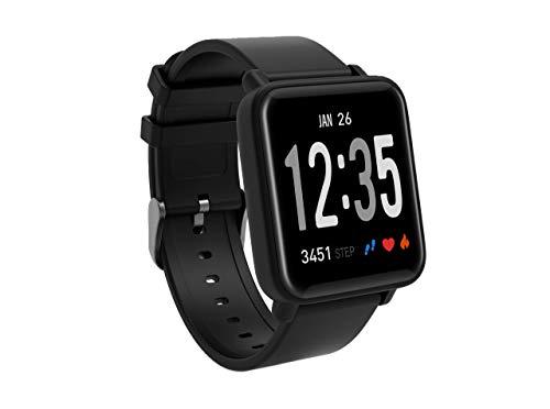 Fitness Tracker Watch, Color Screen Activity Tracker Watch Heart Rate Monitor IP67 Waterproof Smart Wristband Blood Pressure Monitor Sleep Monitor Pedometer Kids Women Men (Black)