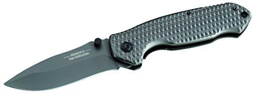 Herbertz TOP-Collection Messer Einhandmesser titanbeschichtet Länge geöffnet: 21.8cm, Grau, M