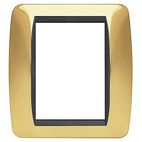 Bticino Living Int - Placa de 3 + 3 plazas Oro auténtico