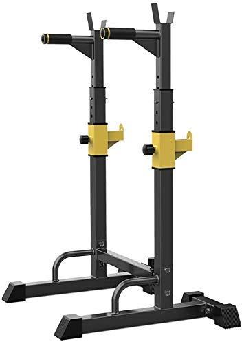 Tcbz Equipo para jalar Sentadillas para Sentadillas Equipo de Ejercicios Multifuncional Banco de Pesas Barbell Rack Barras paralelas Simples para Interiores (Color: Negro, tamaño: 58X88x140cm)