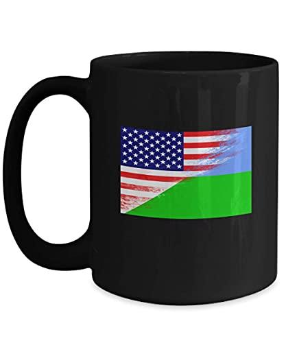 N\A USA Dschibuti Flagge Afrika afrikanische 11oz Schwarze Kaffeetasse Teetasse