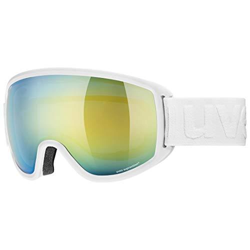 Uvex Topic Fm Sphere Skibrille, White mat/orange-Blue, one Size