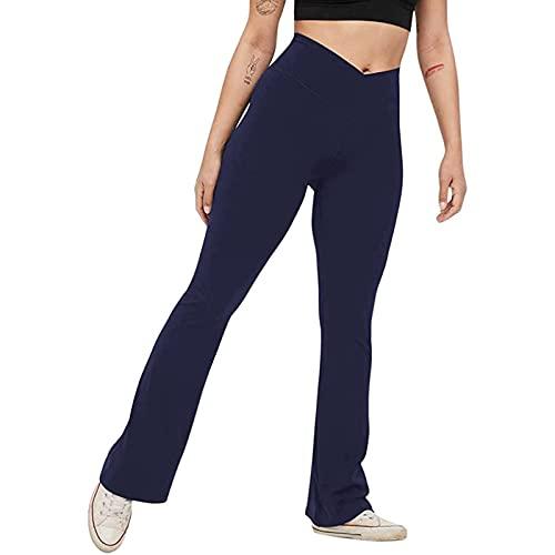 Damen Yogahose Lose Gerade Lounge Laufen Workout Hose Aktive Freizeit Jogginghose Lose Gerade Lounge Running Hose Weites Bein Kordelzug Pants