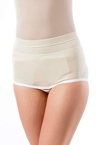 BeFit24® Leistenbruch Slip für Damen - Bruchslip für Leistenbruch - Leistenbruch Unterhose - Hernia Briefs - Hernia Boxers [ Size 2 - Beige ]