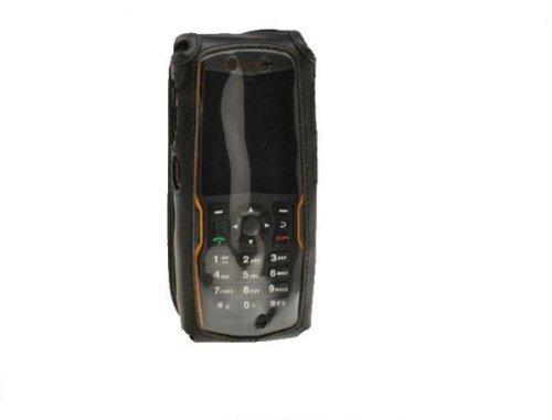 Turtleback ausgestattet Fall Made für Sonim XP Strike Handy schwarz Leder drehbar abnehmbaren Gürtelclip aus Metall Made in USA