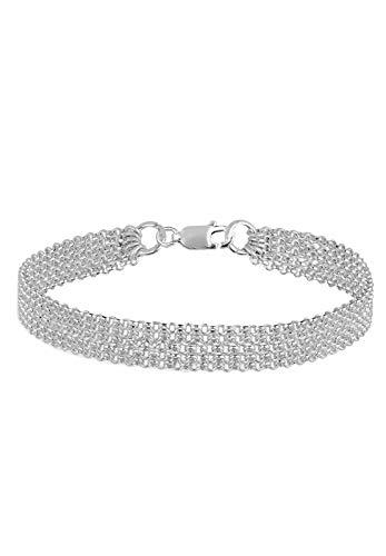 Elli Armband 5-Lagig Basic Ketten Modern 925 Sterling Silber
