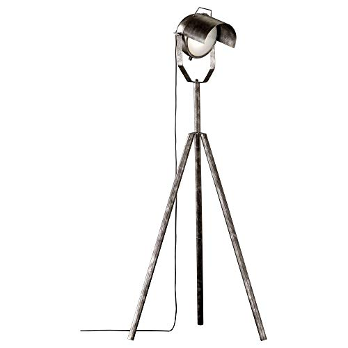 Stehleuchte & Standlampe Stehleuchte in Silber und Weiß NO.5 E27 Metall | 1-flammig
