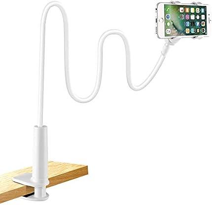 LONZOTH Soporte para teléfono móvil, Teléfono Móvil Soporte Cuello de Cisne Soporte Universal Soporte para iPhone Smartphone Teléfono Móvil (Phone Stand White)