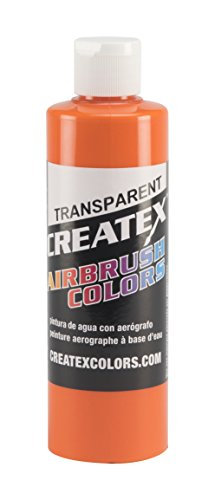 Createx Colors Paint for Airbrush, 8 oz, Transparent Orange by Createx Colors