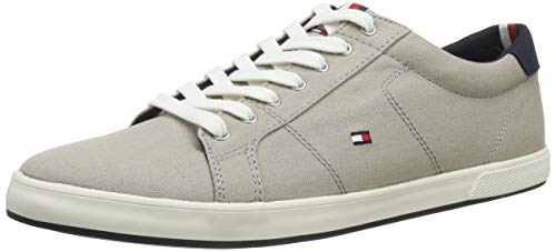Tommy Hilfiger Iconic Long Lace Sneaker, Zapatillas para Hombre, Beige (Stone Aep), 42 EU