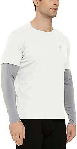 D Bonex Men s 2 in 1 Running Shirts Long Sleeve Jogging Cycling Workout Shirts with UPF 50 Sun product image