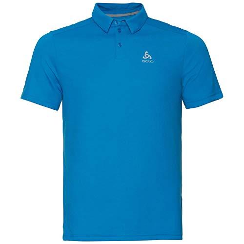 Odlo Herren Polo Shirt s/s F-Dry Poloshirt, Blue Aster, L