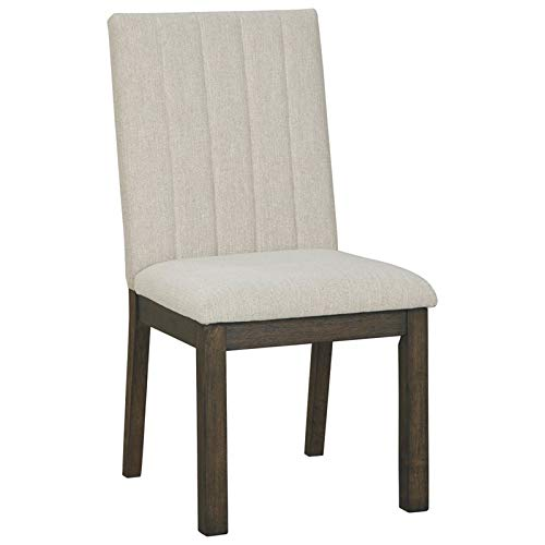 Bowery Hill Upholstered Dining Chair in Beige