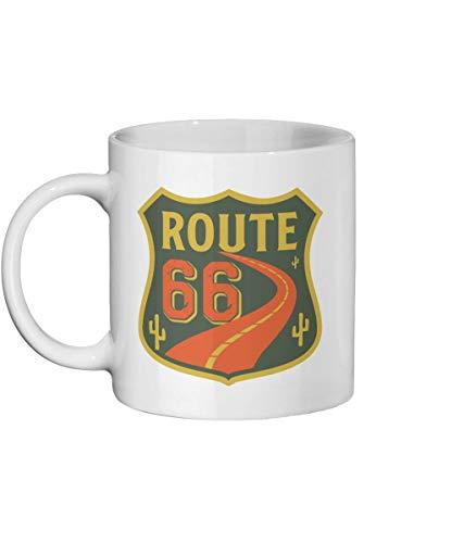 Lplpol Taza de café con diseño de la ruta 66 de Estados Unidos, regalo de viaje por carretera, taza de Estados Unidos, ruta 66, regalo para él, regalo para ella, ruta 66 Cactus