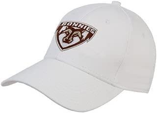 St Bonaventure White Heavyweight Twill Pro Style Hat 'Bonnies Shield'