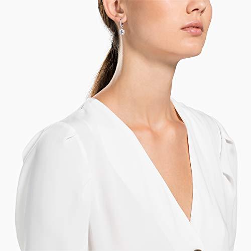 Swarovski Orecchini Attract, Bianco, Placcatura Rodio