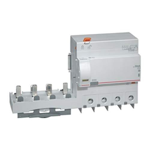 Legrand 410624 Bloc différentiel adaptable à vis DX³ pour disjoncteur 1,5 module par pôle, 4P, 400V, 125A typeAC, 30mA