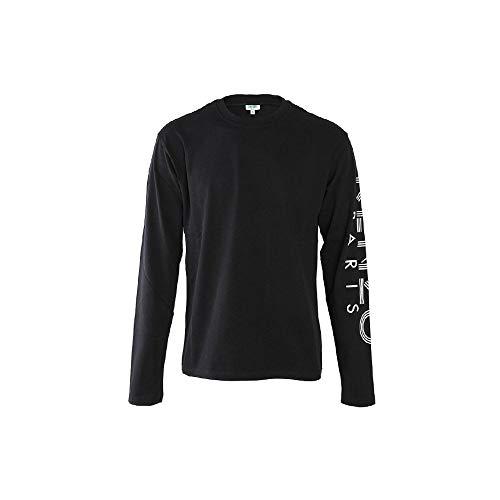 Kenzo Sport Paris T-shirt met lange mouwen Zwart