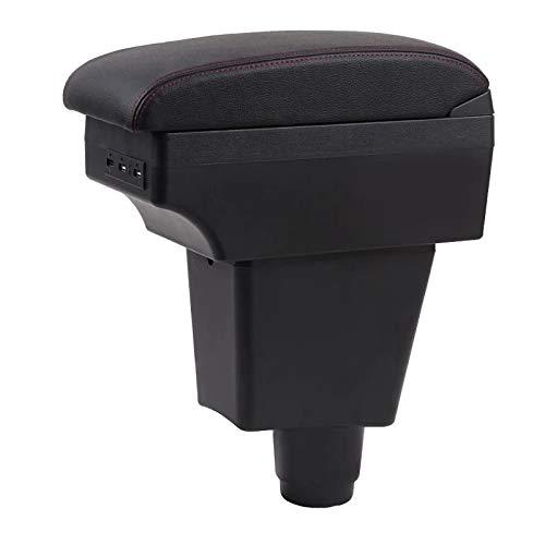 GJPSXTY para Caja de Dacia Sandero Caja de Almacenamiento de Contenido de Tienda Central Caja de reposabrazos de Asiento con portavasos cenicero Interfaz USB